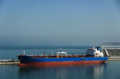 Tanker Ship in Civitavecchia port Royalty Free Stock Images