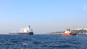Tanker ship convoy Royalty Free Stock Image