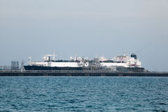 Tanker ship. In the port of Kuwait, Middle East Royalty Free Stock Photos