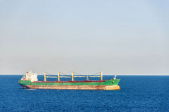 Tanker ship. Sailing the Mediterranean Sea Royalty Free Stock Photo