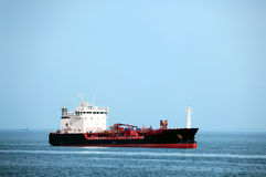 Tanker ship at sea. Huge tanker ship at sea - all brands and names removed Stock Image