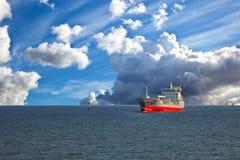 Tanker ship at sea Stock Photo