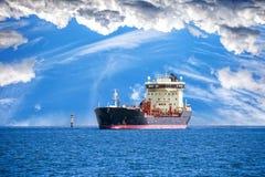 Tanker Ship on sea Stock Photo