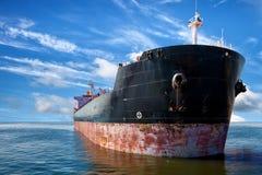 Tanker ship on sea Stock Photography
