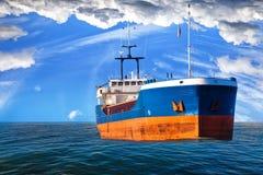 Tanker ship on sea Stock Photos
