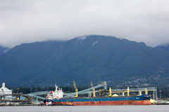Tanker ship in Vancouver harbour. Stock Image