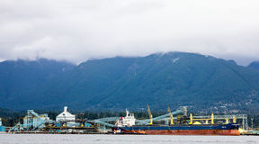 Tanker ship in Vancouver harbour. Royalty Free Stock Photo