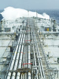 Tanker ship. Vlcc very large crude oil tanker on open rough sea Royalty Free Stock Image