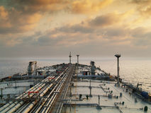 Tanker ship. Vlcc very large crude oil tanker on open sea Stock Photos