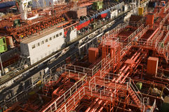 Tanker in shipyard Royalty Free Stock Photography