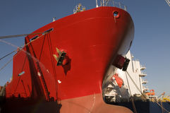 Tanker in shipyard Stock Images