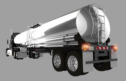 Tanker Trailer Isolated Stock Photography
