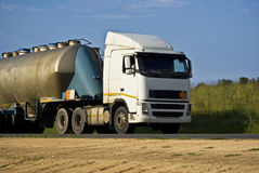 Tanker Transportation - Heavy Duty Hauling Royalty Free Stock Photography