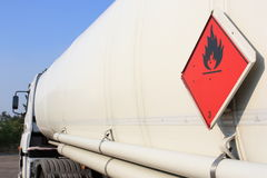 Tanker truck. Fuel and flammable liquid tanker truck Stock Image