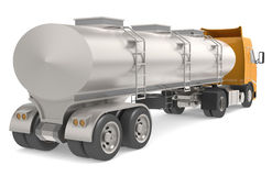 Tanker truck. Isolated on white Royalty Free Stock Images