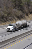 Tanker Truck. On the Highway Stock Photos