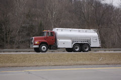 Tanker Truck. Fuel,dairy or Gas Tanker Truck on the highway Stock Images