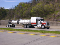 Tanker Truck. White Tanker Truck Royalty Free Stock Photography