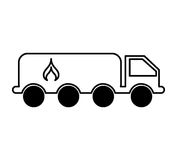 Tanker truck with flame. Vector illustration design Royalty Free Stock Photo