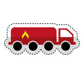 Tanker truck with flame. Vector illustration design Royalty Free Stock Photos