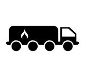 Tanker truck with flame. Vector illustration design Stock Image