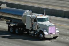 Tanker Truck on Freeway Stock Image