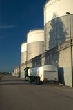 Tanker Truck and Fuel storage tanks Royalty Free Stock Photography