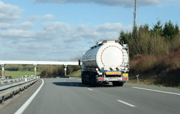 Tanker truck on the highway Royalty Free Stock Images
