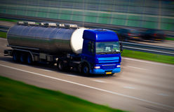 Tanker truck on motorway Royalty Free Stock Photo