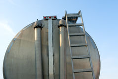 Tanker truck rear view Stock Image