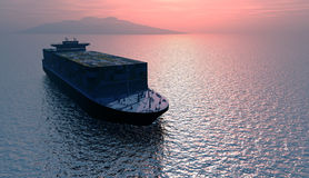The cargo ship Royalty Free Stock Images