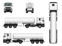 Tanker truck vector illustration on white. Stock Image