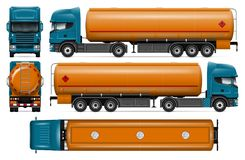 Tanker truck vector mock-up Royalty Free Stock Photos