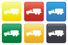 Tanker truck web button Stock Images