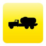 Tanker truck web button Royalty Free Stock Photo