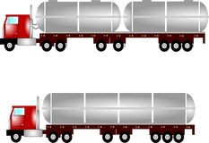 Tanker trucks Stock Image