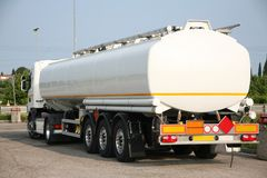 Tanker for the transport of solvent. Tanker used for the transport of solvent Stock Image