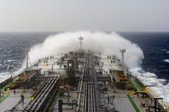 Tanker vessels in Indian ocean. Royalty Free Stock Photo