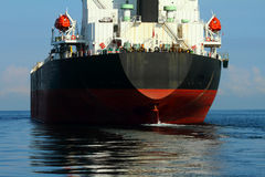 Tanker are working in the gulf Royalty Free Stock Images