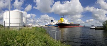 Tankers in amsterdam harbor Stock Photos