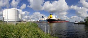 Tankers in amsterdam harbor Stock Photos