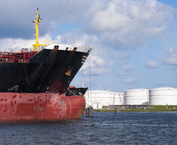 Tankers in amsterdam harbor Stock Photography