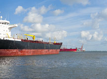 Tankers in amsterdam harbor Royalty Free Stock Photography