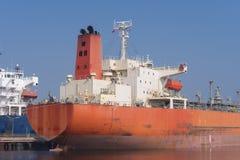 Tankers in amsterdam harbor Stock Photo
