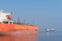 Tankers in amsterdam harbor Stock Image