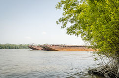 Tankers on the Danube river royalty free stock images