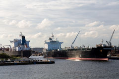 Tankers in Fort Lauderdale royalty-vrije stock foto