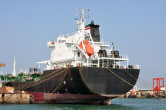 Tankers parked in the dock Stock Photography