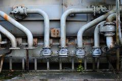 Tankers'pipes dell'olio Immagini Stock