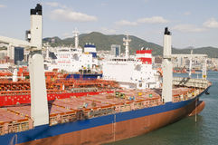 Tankers in shipyard royalty free stock images